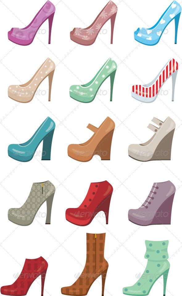 Female shoes set - Commercial / Shopping Conceptual