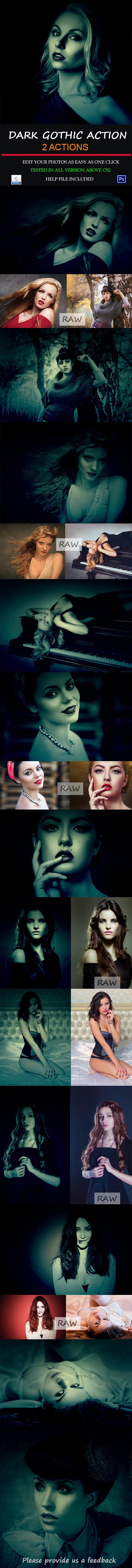 Dark Gothic Premium Actions - Photo Effects Actions