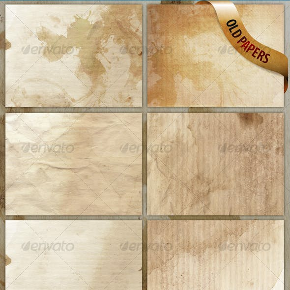8 old paper textures/backgrounds