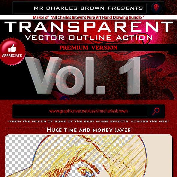 Transparent Vector Outline Action
