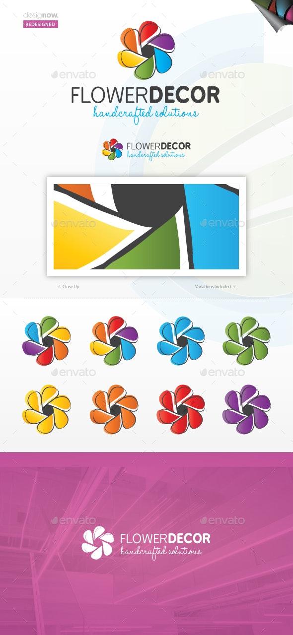 Flower Decor - Nature Logo Templates