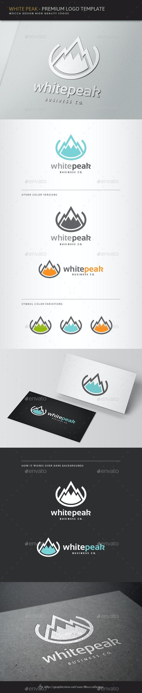 White Peak Logo - Nature Logo Templates