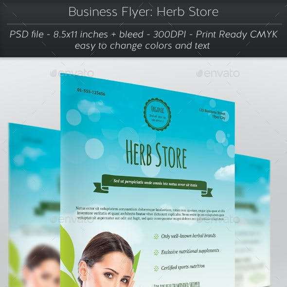 Business Flyer: Herb Store