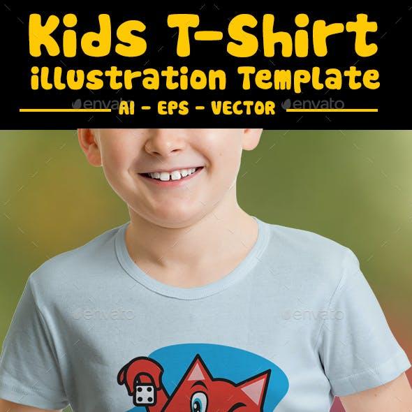Cat Kids T-shirt Design