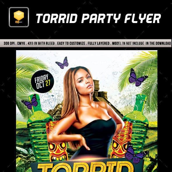 Torrid Party Flyer