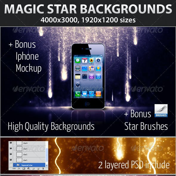 Magic Star Backgrounds