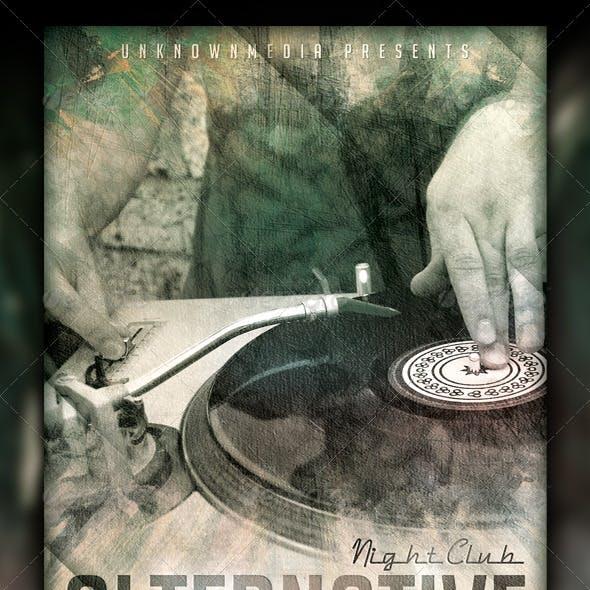 Alternative Music Event Flyer Design