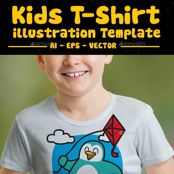 Penguin Kids T-shirt Design