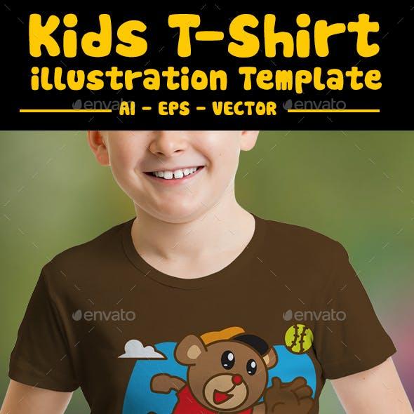 Bear Playing Kids T-Shirt