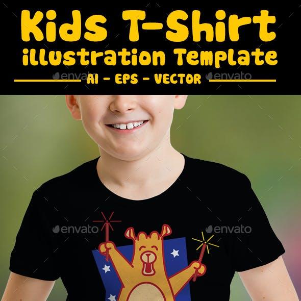 Firework Kids T-Shirt Design