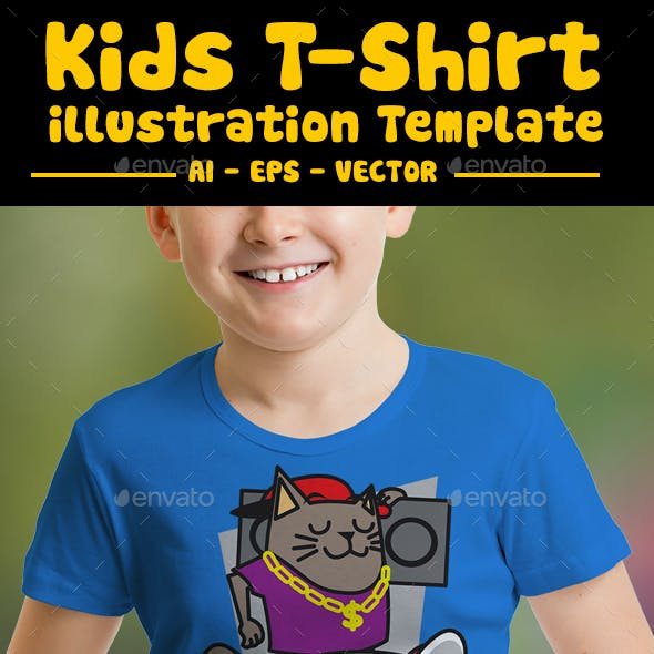 Funky Kids T-Shirt Design