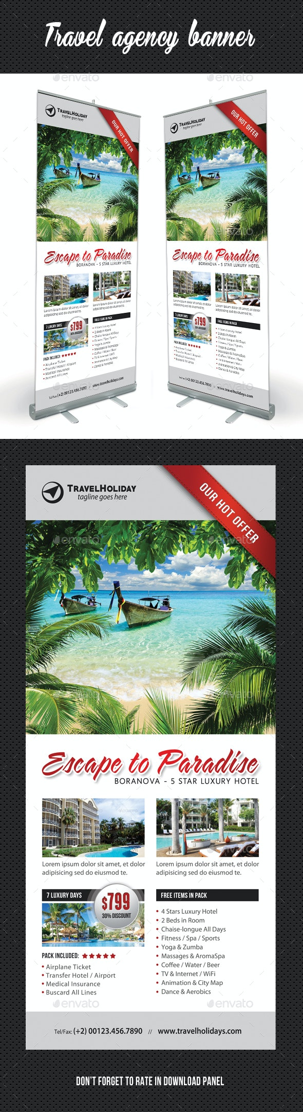Travel Agency Banner Template 12