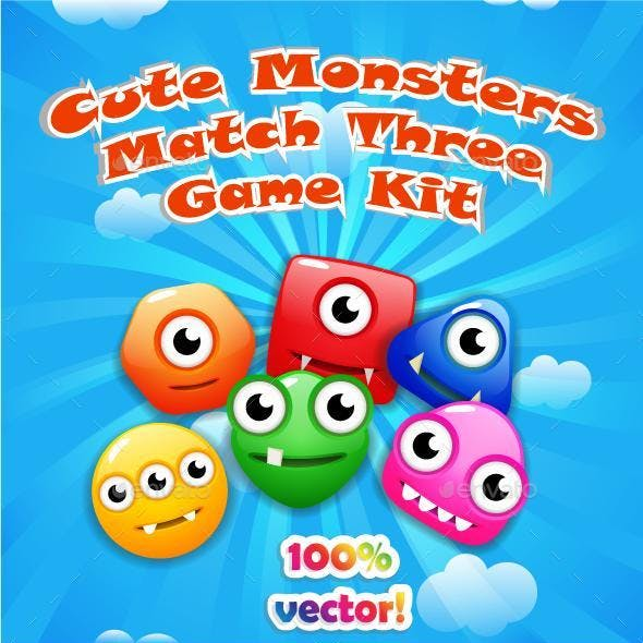 Monsters Match Three Game Kit