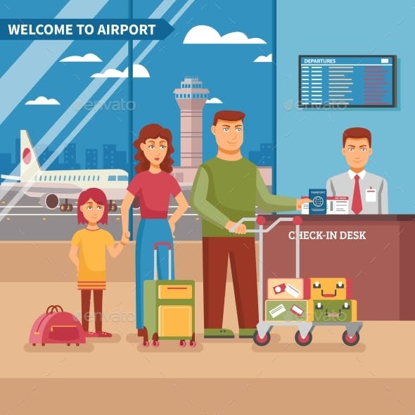 Airport Work Illustration