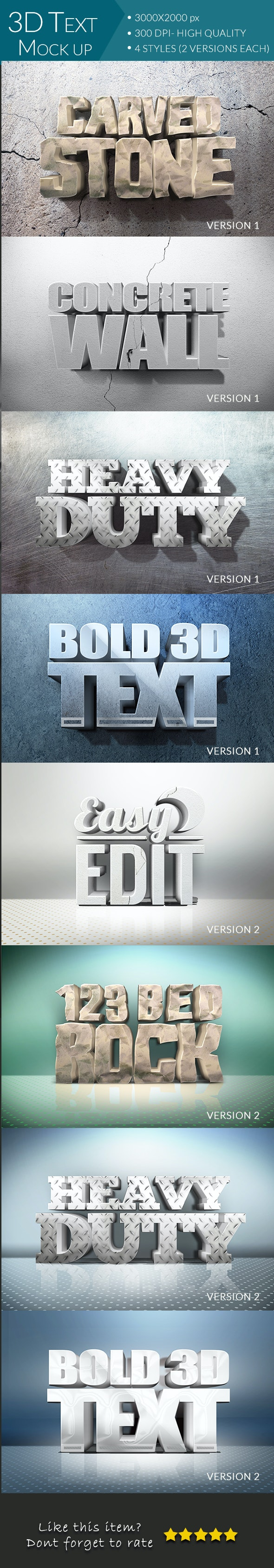 3D Text Mockup - Text Effects Styles