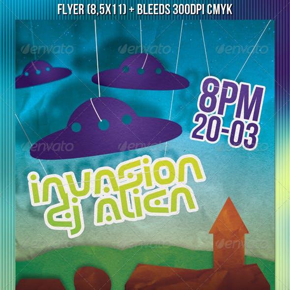 Alien Invasion Party Flyer