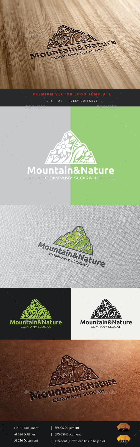 Mountain&Nature - Nature Logo Templates