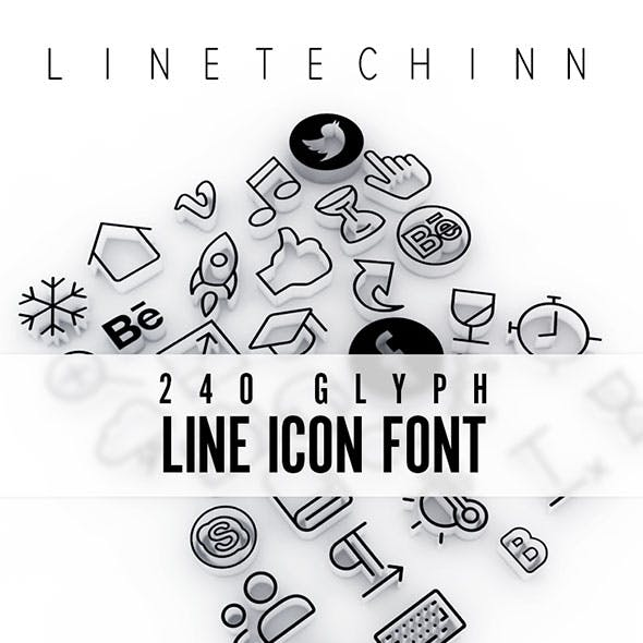 LineTechInn Line Icon Font