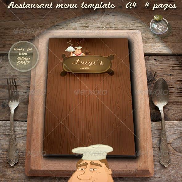 Restaurant Menu Templates - Luigi's