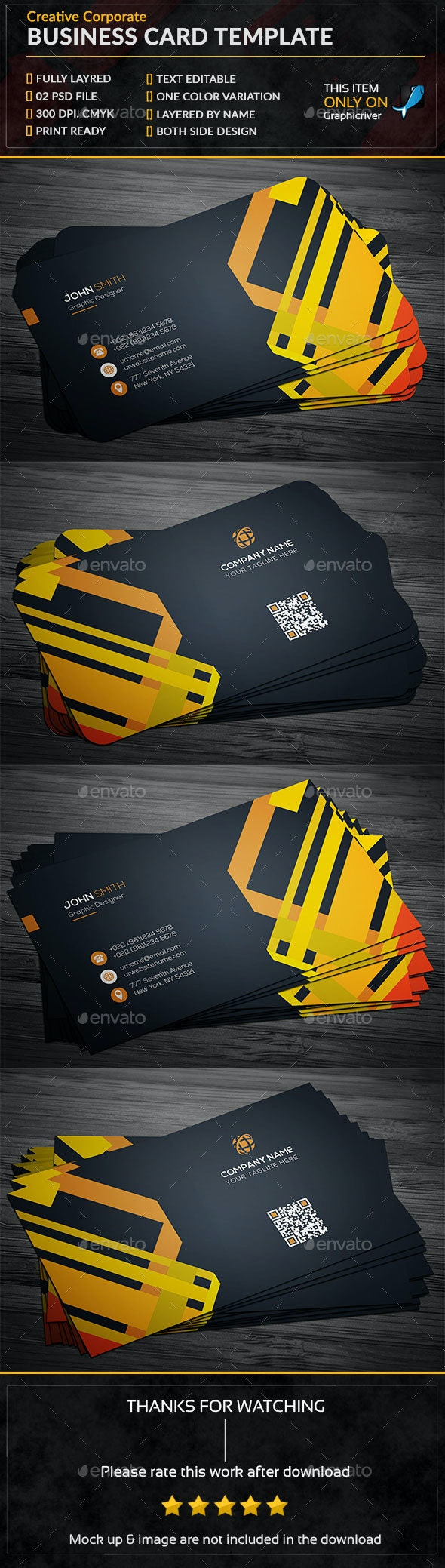 Creative Corporate Business Card Template - Business Cards Print Templates