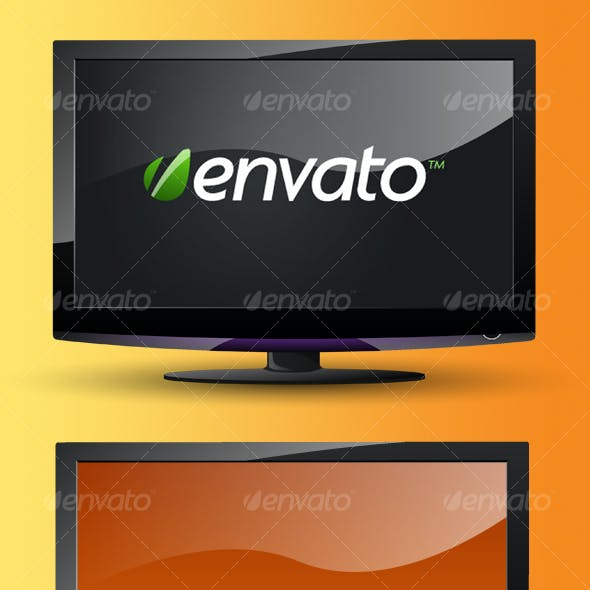 Layered Widescreen LCD TV