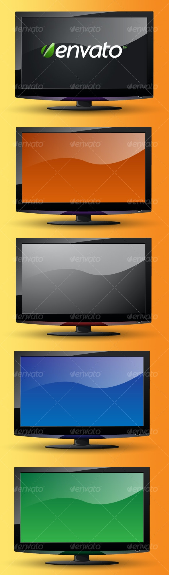 Layered Widescreen LCD TV - Man-made Objects Objects