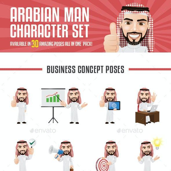 Arabian Man Character Set
