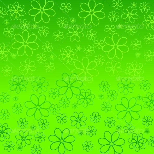 daisies silhouettes.  - Backgrounds Decorative