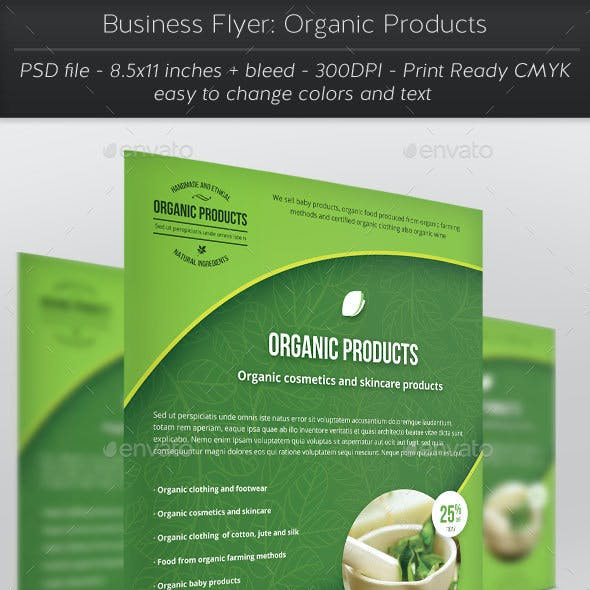 Business Flyer: Organic Products