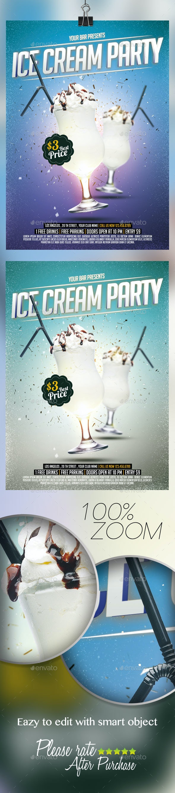 Ice Cream Flyer  - Events Flyers