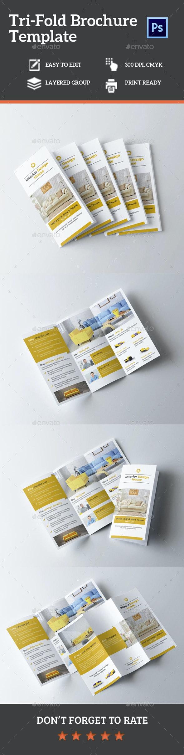 Interior Tri-Fold Brochure Vol. 1 - Brochures Print Templates