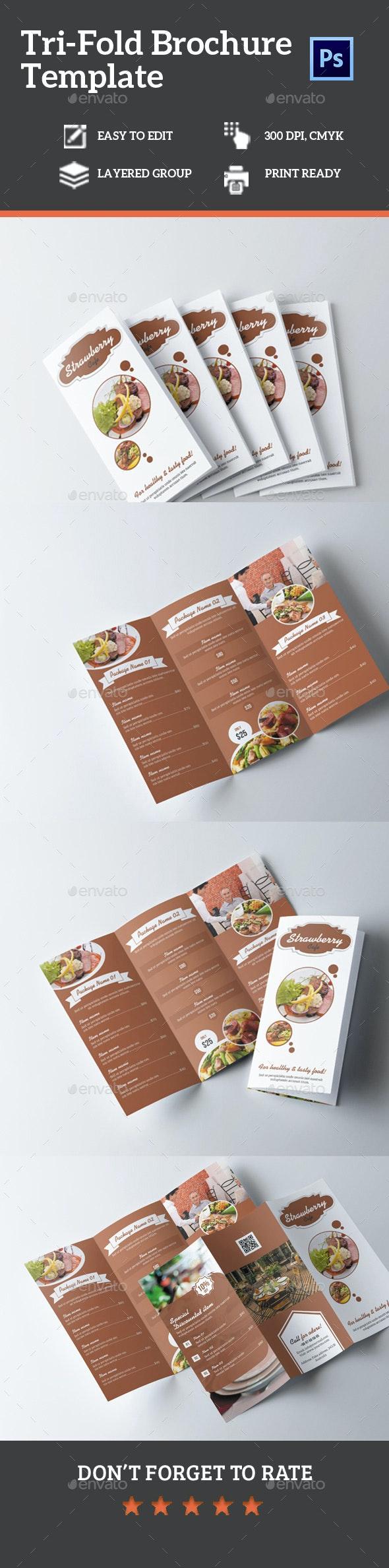 Food Menu Tri-Fold Brochure Vol. 1 - Food Menus Print Templates