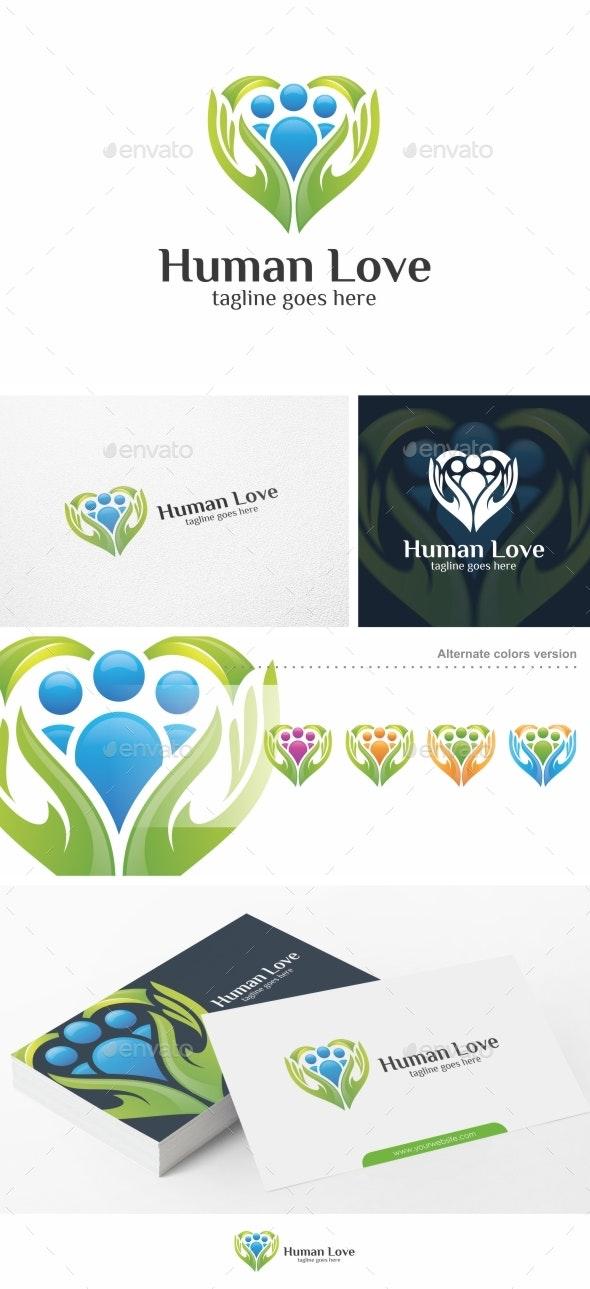 Human Love / Heart - Logo Template - Humans Logo Templates