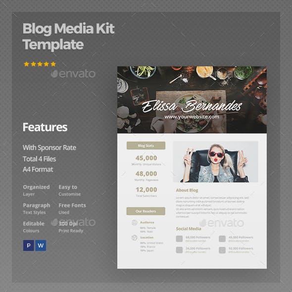 Blog Media Kit Template