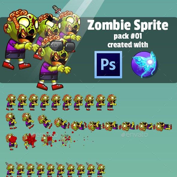Zombie Enemy Sprite Sheet Pack #01
