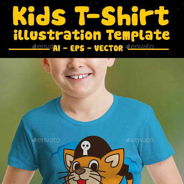 Pirates Cat Kids T-Shirt