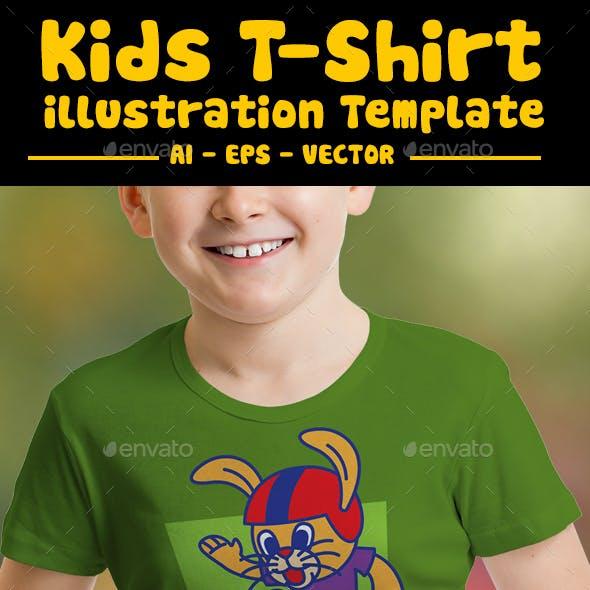 Skateboard Kids T-Shirt Design