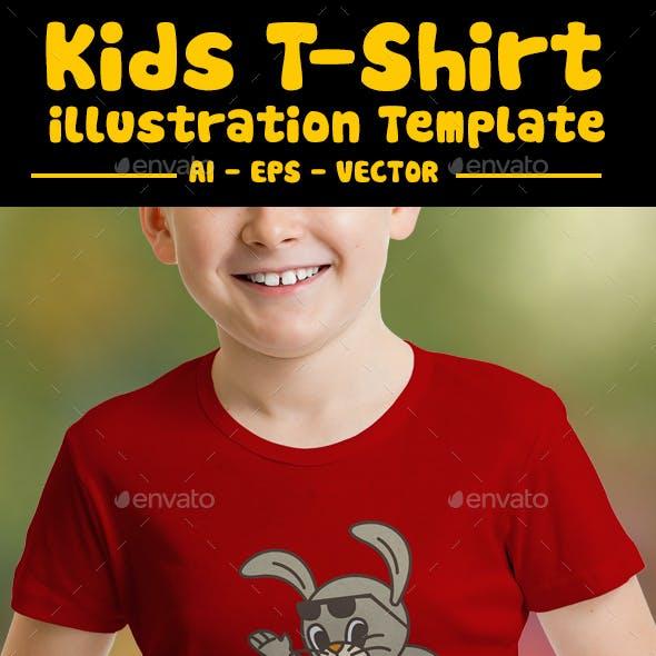 Rabbit Surfing Kids T-Shirt