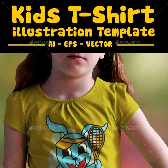 Tennis Kids T-Shirt Design