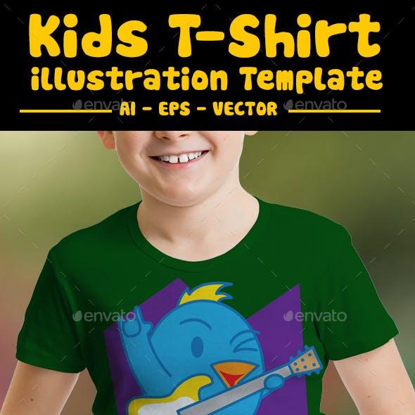 Guitar Kids T-Shirt Design