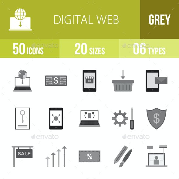 Digital Web Greyscale Icons