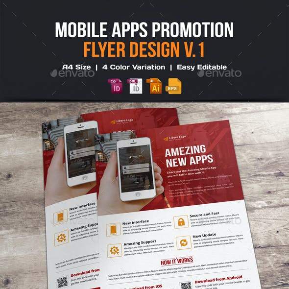 Mobile Apps Promotion Flyer Design