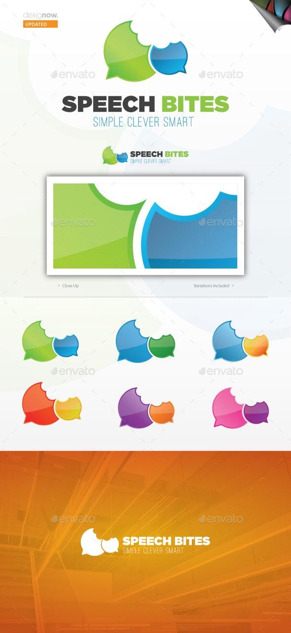 Speech Bites Logo Template - Symbols Logo Templates