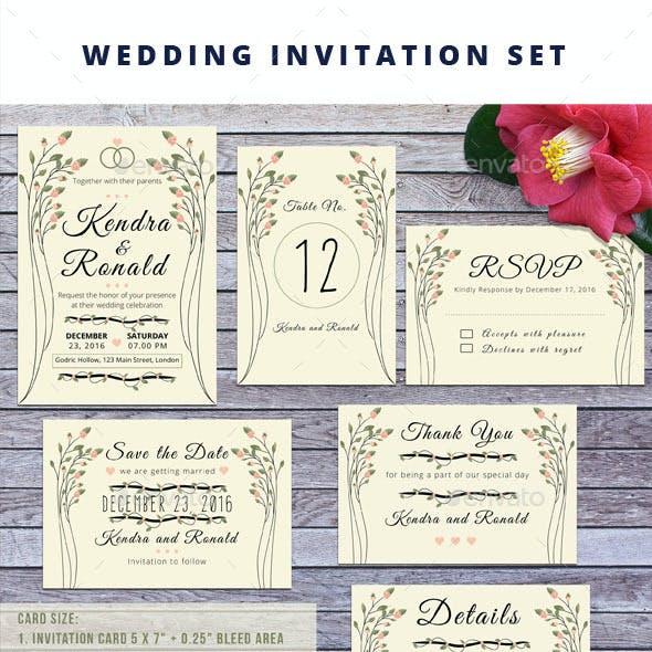 Wedding Invitation set  Vol.2