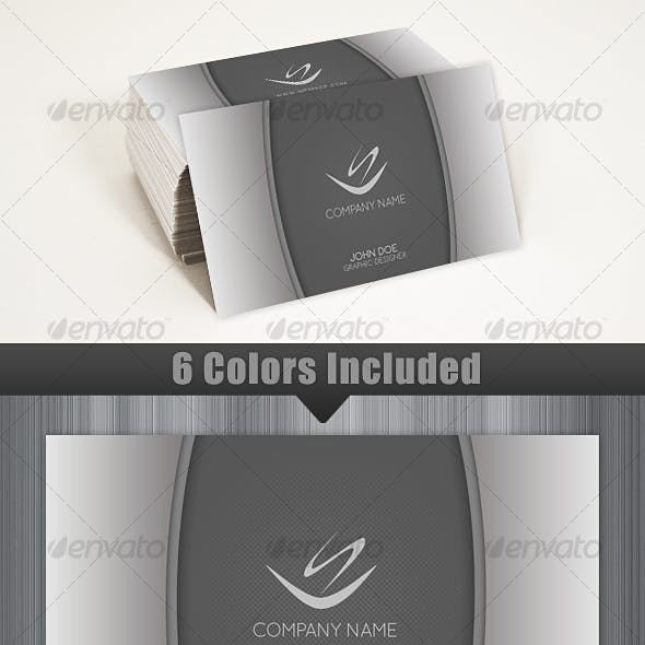 Gray Elegant and Modern Business Card