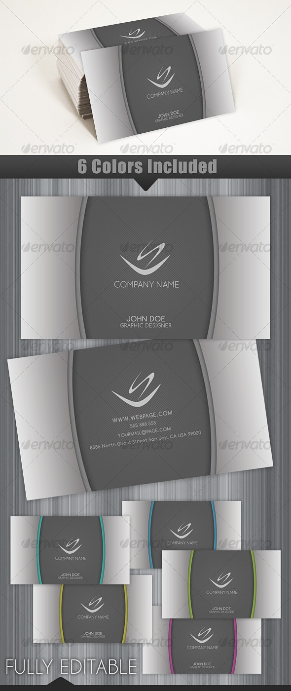 Gray Elegant and Modern Business Card - Corporate Business Cards