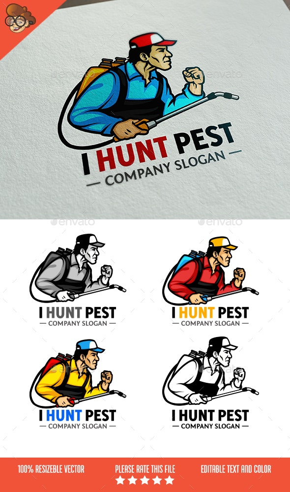 I Hunt Pest Logo - Humans Logo Templates