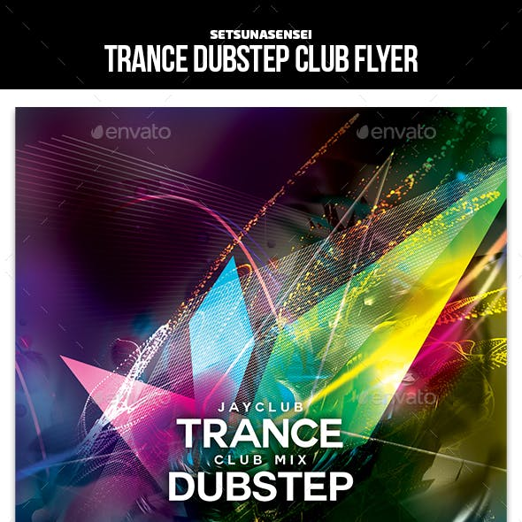 Trance Dubstep Club Flyer
