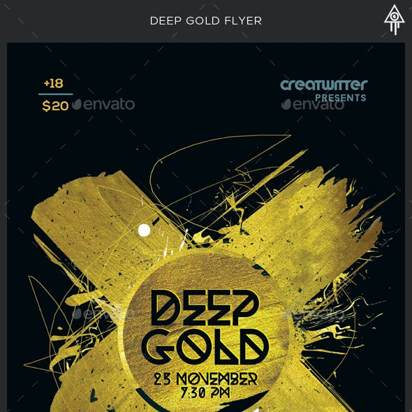 Deep Gold Party Flyer