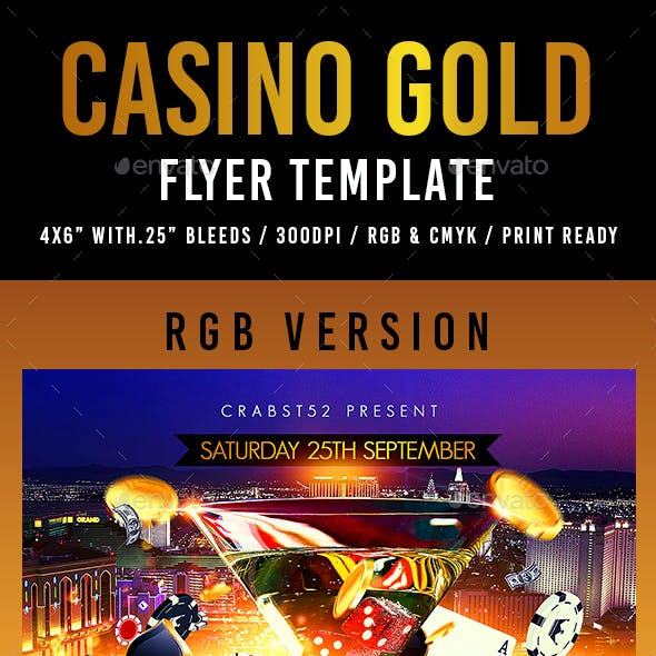 Casino Gold Flyer Template